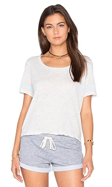 Athletic Stripe Cropped Tee in Sunspray