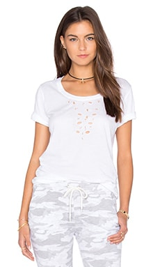 Shredded Tee in White