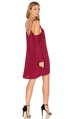 Crossroads Cold Shoulder Dress in Berry