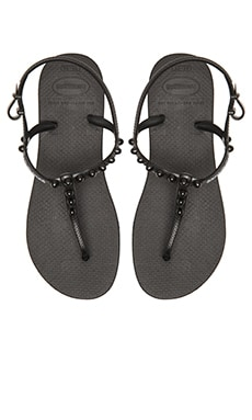 Freedom Candy Flip Flop in Black