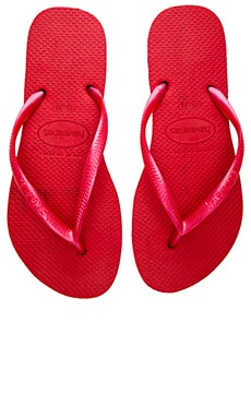 Slim Flip Flop in Red