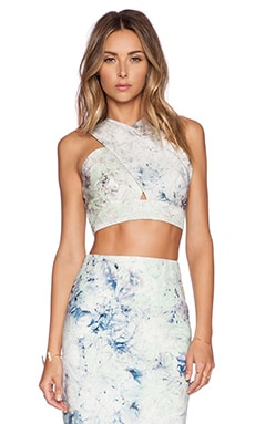 Marcy Crop Top in Mint Juley
