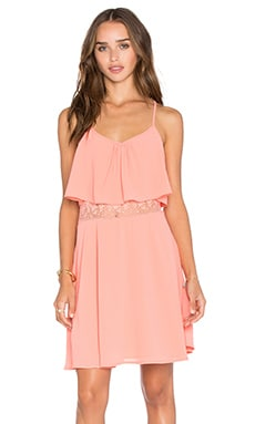 Iona Dress in Coral