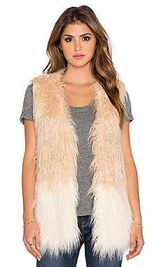 Shell Faux Fur Vest in Exru