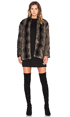 Tess Faux Fur Jacket in Mink