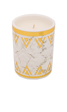 House of Harlow Flower Child Candle in White & Gold