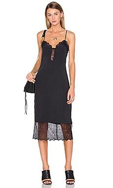 x REVOLVE Emma Lace Hem Slip Dress in Black