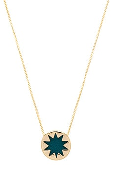 House of Harlow Mini Starburst Pendant Necklace in Dark Teal