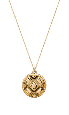 Phoebe Quilted Pendant Necklace in Gold