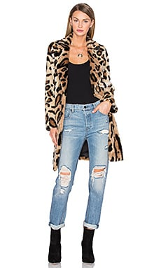 x REVOLVE Genn Faux Fur Coat in Leopard