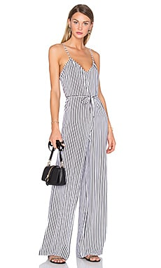 x REVOLVE Gia Jumpsuit in White & Black Stripe