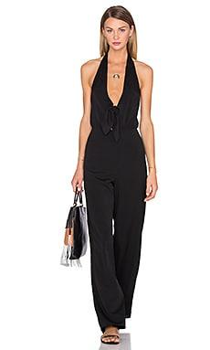 x REVOLVE Coco Tie Front Jumpsuit in Black