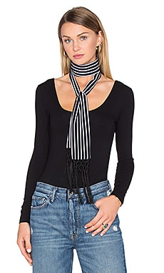 x REVOLVE Ossie Scarf in Black & White Stripe