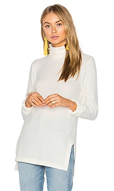 Brushed Hacci Turtleneck in Ivory