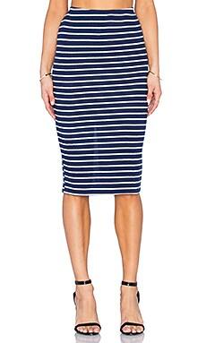 Alyssa Skirt in Navy & White