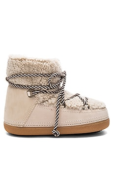 Curly Boot with Lamb Shearling in Beige
