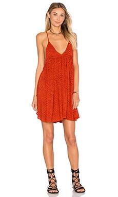 Saffron Printed Mini Dress in Lava Tiger