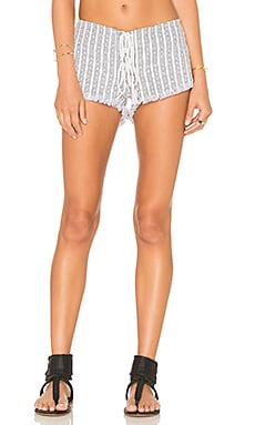 Vibe Lace Up Short in White Nobel