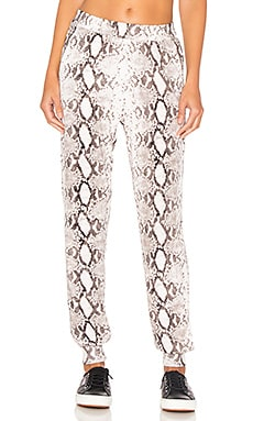 Cognac Track Pant in Natural Python