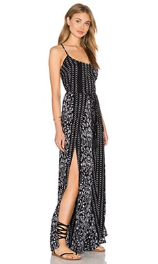 Tropical Printed Jumpsuit in Black Malala