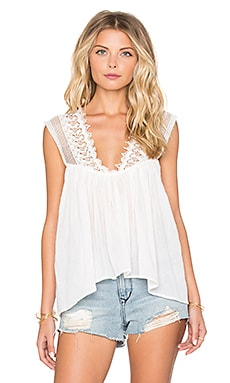 Palm Lace Detail Cami in Ivory
