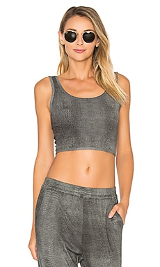 Cookie Cropped Tank in Grey Crocodile