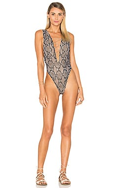 Wilder Reversible Shimmer One Piece in Driftwood