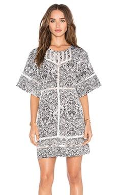 Tawny Dress in White & Black