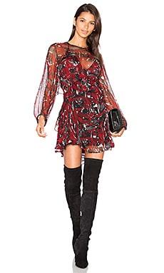 Ressey Dress in Black & Red