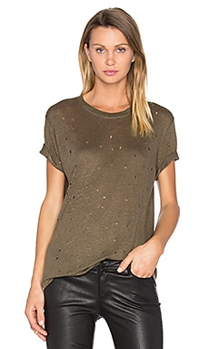 Clay Distressed Tee in Kaki