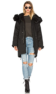 Ismery Faux Fur Jacket in Anthracite