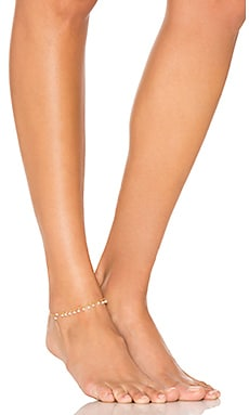 Rondelle Drop Shaker Anklet in Moonstone