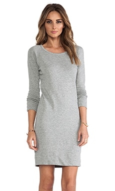 Raglan Sweatshirt Dress in Heather Grey
