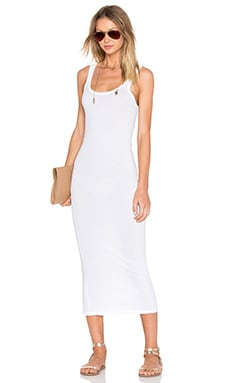 Long Slip Dress in White