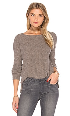 Cashmere Crop Sweater in Taupe Melange
