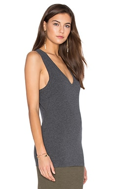 Skinny Jersey Tank in Heather Charcoal