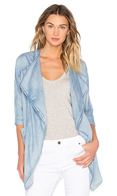 Dolman Cocoon Jacket in Chambray