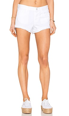 Sachi Low Rise Cut Off Short in White