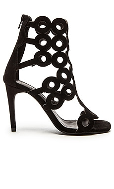 x REVOLVE Honey Cut Out Heel in Black Suede