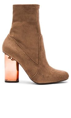 Lucine Booties in Brown Suede Combo