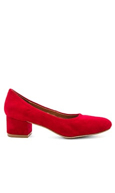 Bitsie Heels in Red Suede