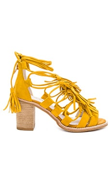 Linares Sandal in Mustard Suede