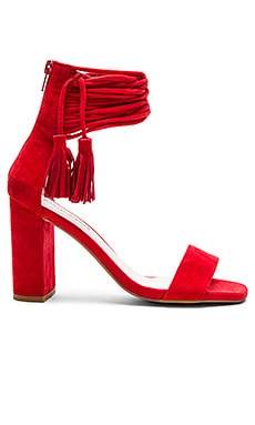 Formosa Heels in Red Suede
