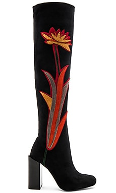 x REVOLVE Paprika Boots in Black Suede