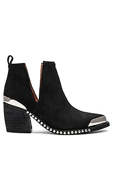 Optimum Booties in Black Oiled Suede Silver