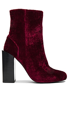 Stratford Booties in Wine Velvet