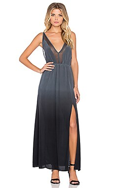 Silk Evening Star Maxi Dress in Midnight Ombre