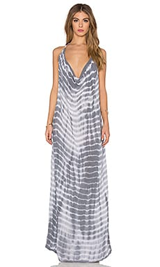 Spartan Maxi Dress in Storm & White LTD