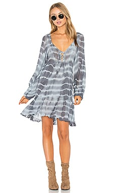 Jen's Pirate Boot Afterlife Dress in Storm & Haze Grey Lightning Tie Dye