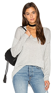 Aden V Neck Sweater in Limestone